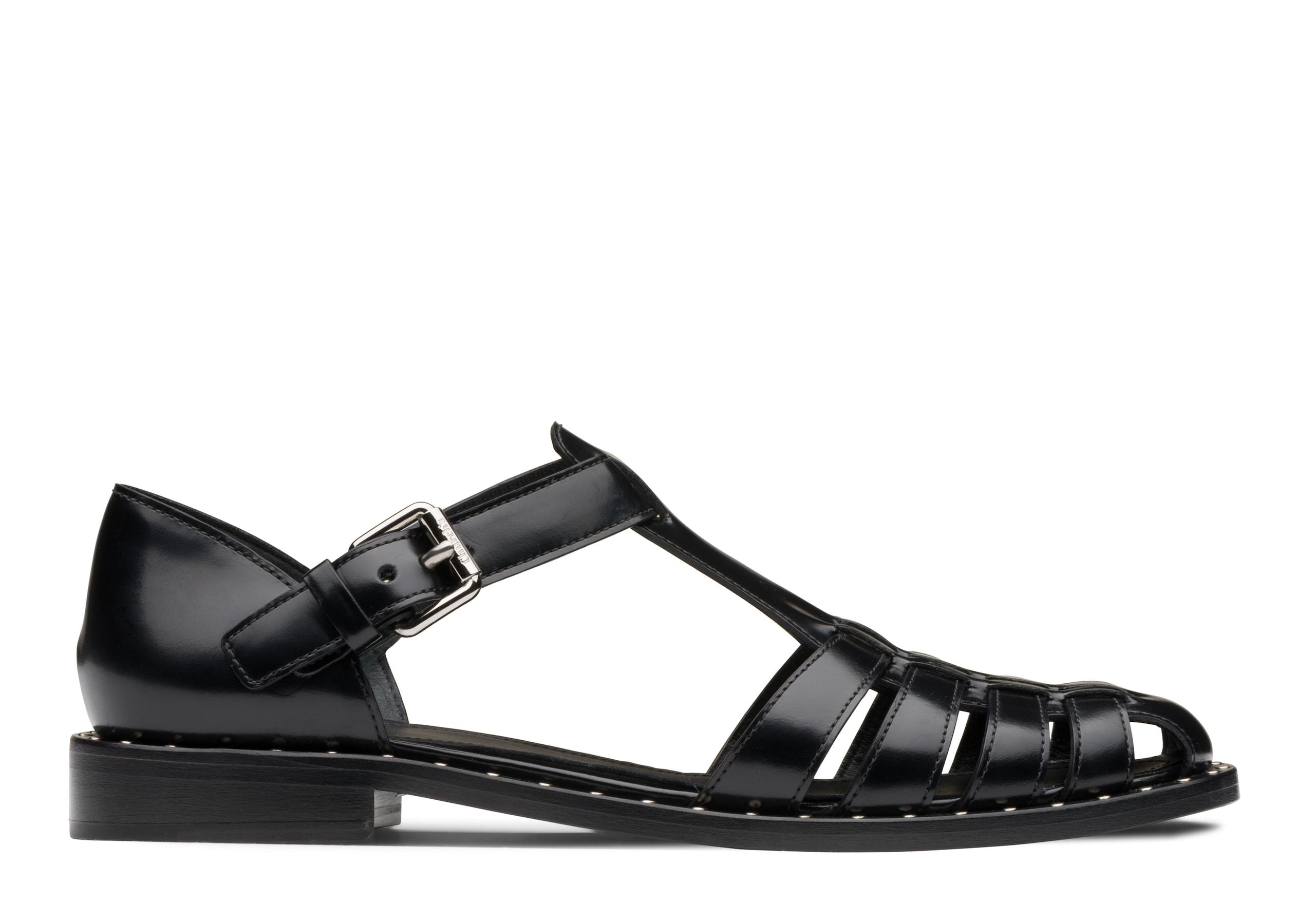 Kelsey met Church's Calf Leather Sandal Stud Black