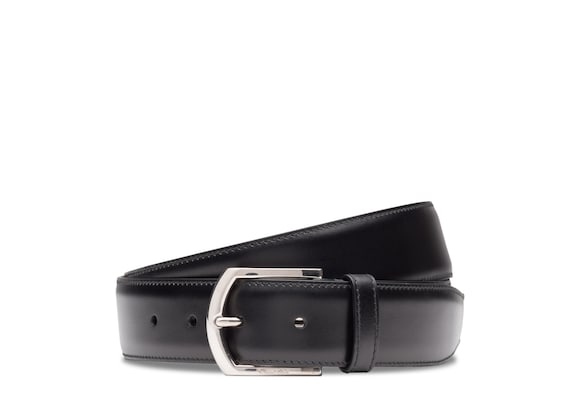 Church's Classic buckle belt カーフレザー ブラック