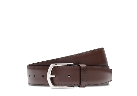 Church's Classic buckle belt Nevadaレザー ダークブラウン