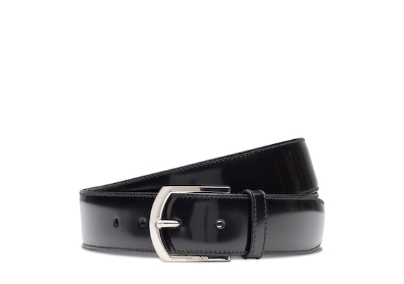 Church's Classic buckle belt Cuir glacé Noir