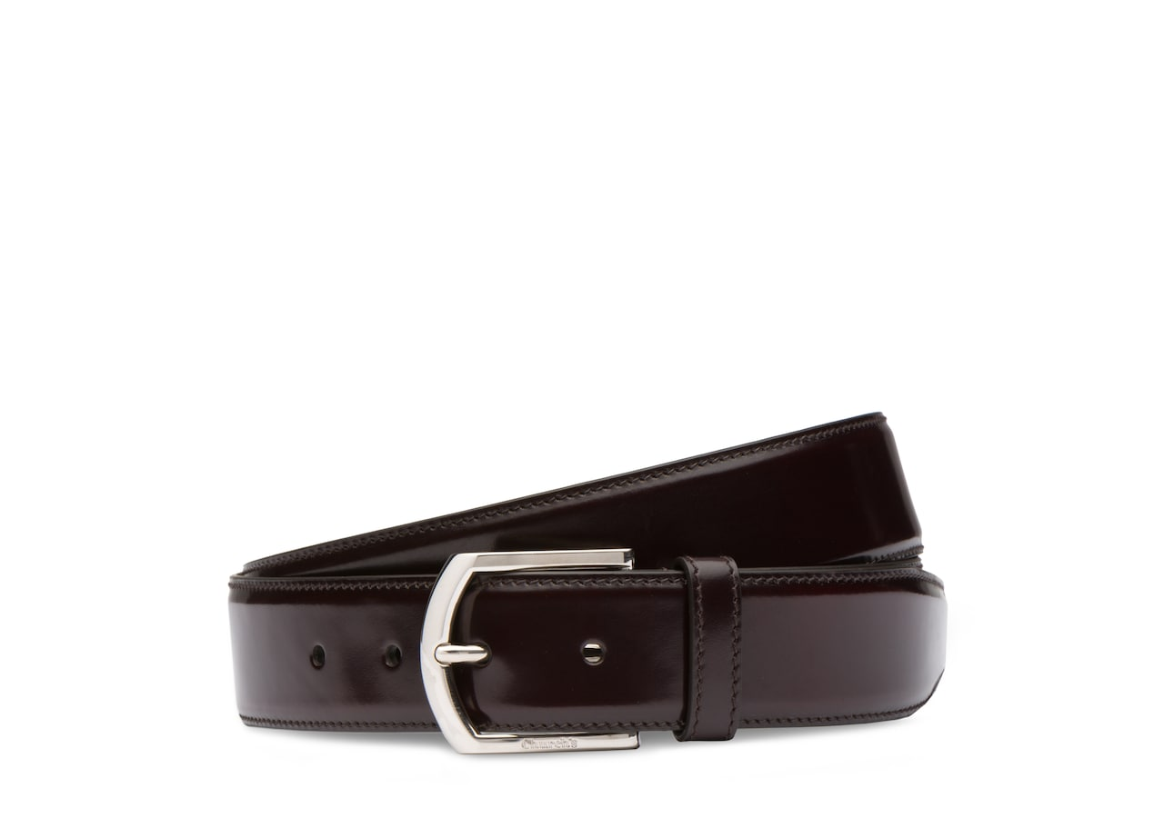 Classic buckle belt Church's Polished Binder Burgundy