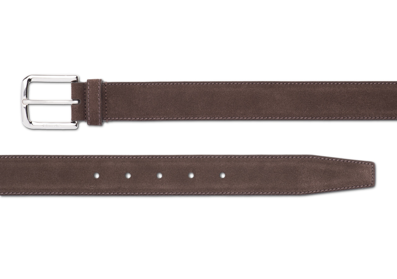 Square buckle belt Church's Castoro Suede Brown