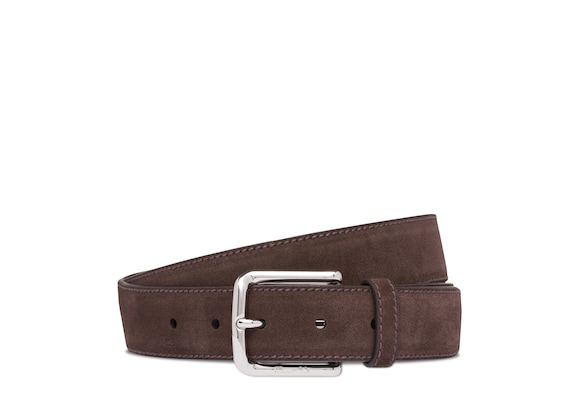 Church's Square buckle belt Castoro Suede