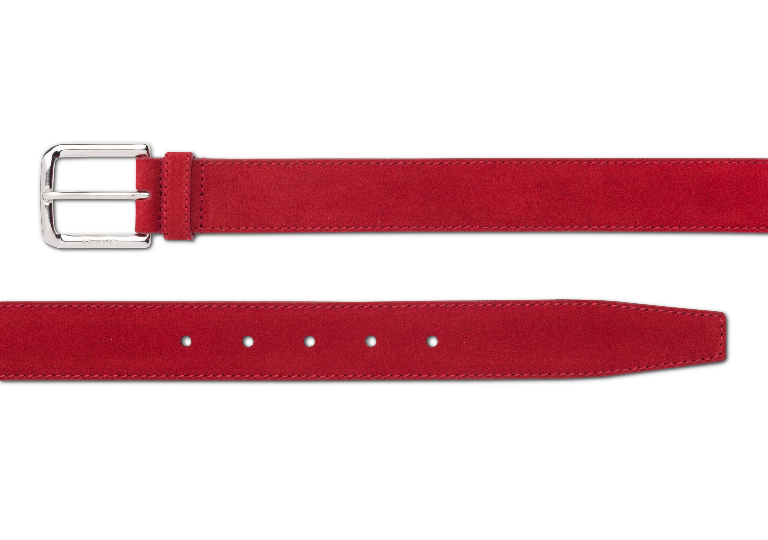 Square buckle belt Church's Castoro Suede Red