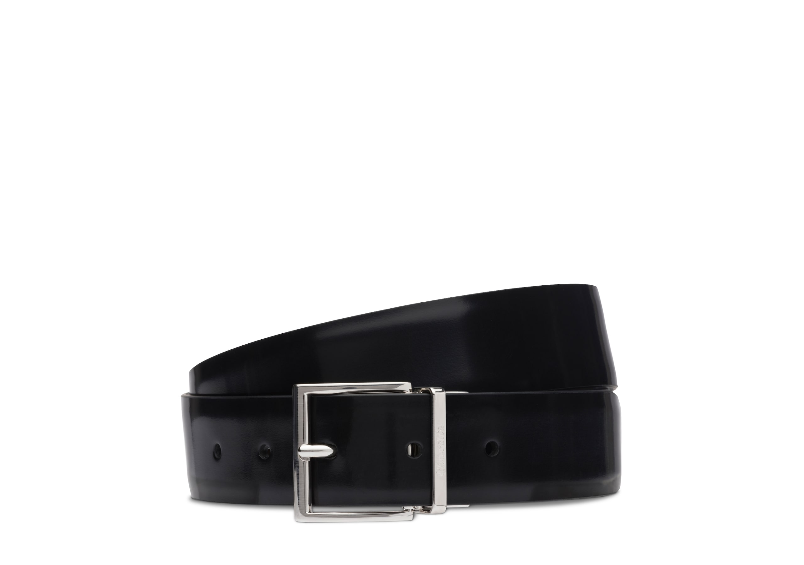 Reversible facet buckle belt Church's Liant poli Noir