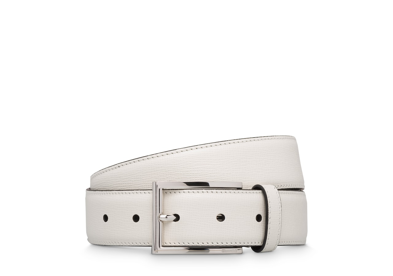 Elongated buckle belt Church's St James Leather Belt White