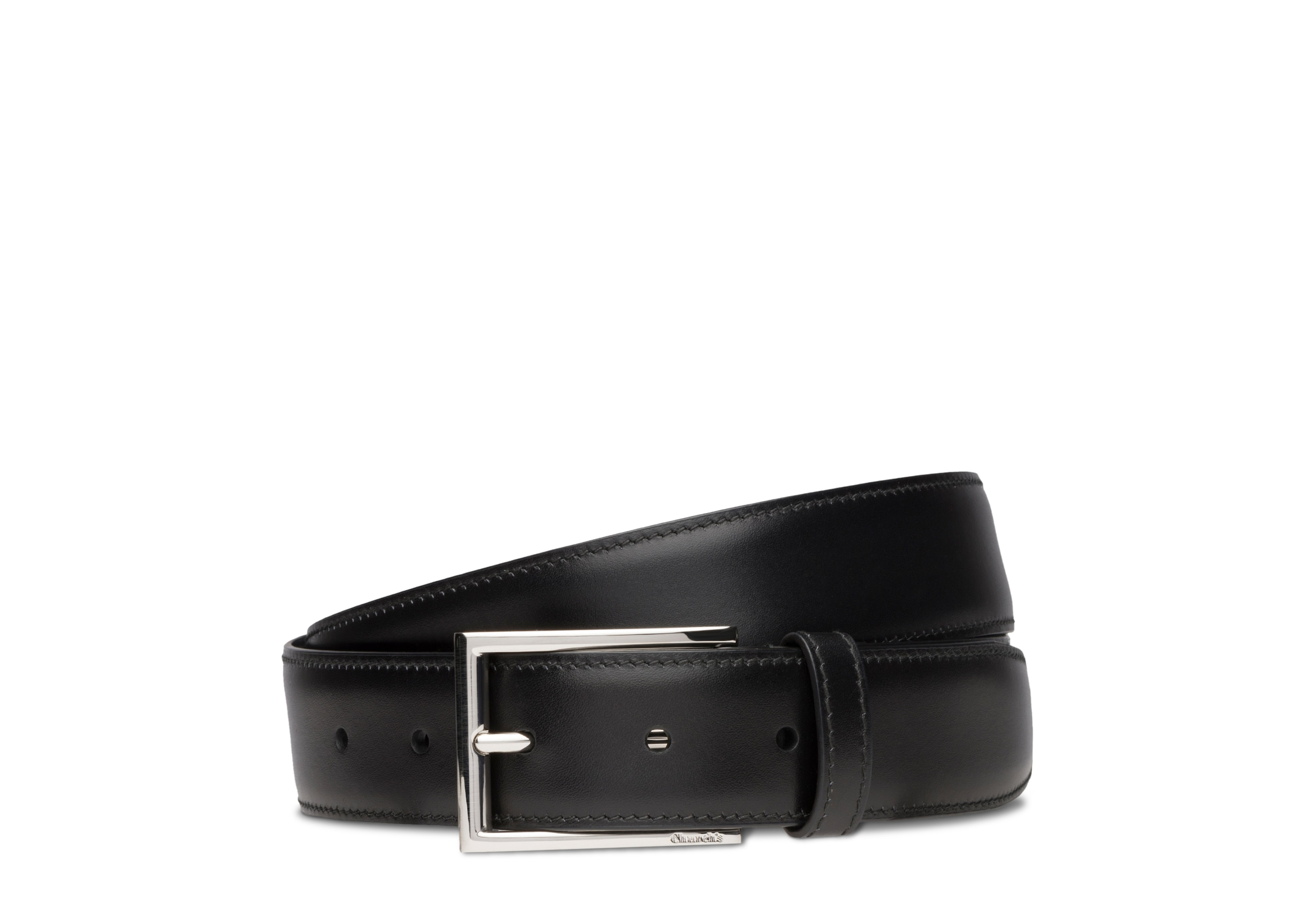Elongated buckle belt Church's Calf Leather Black