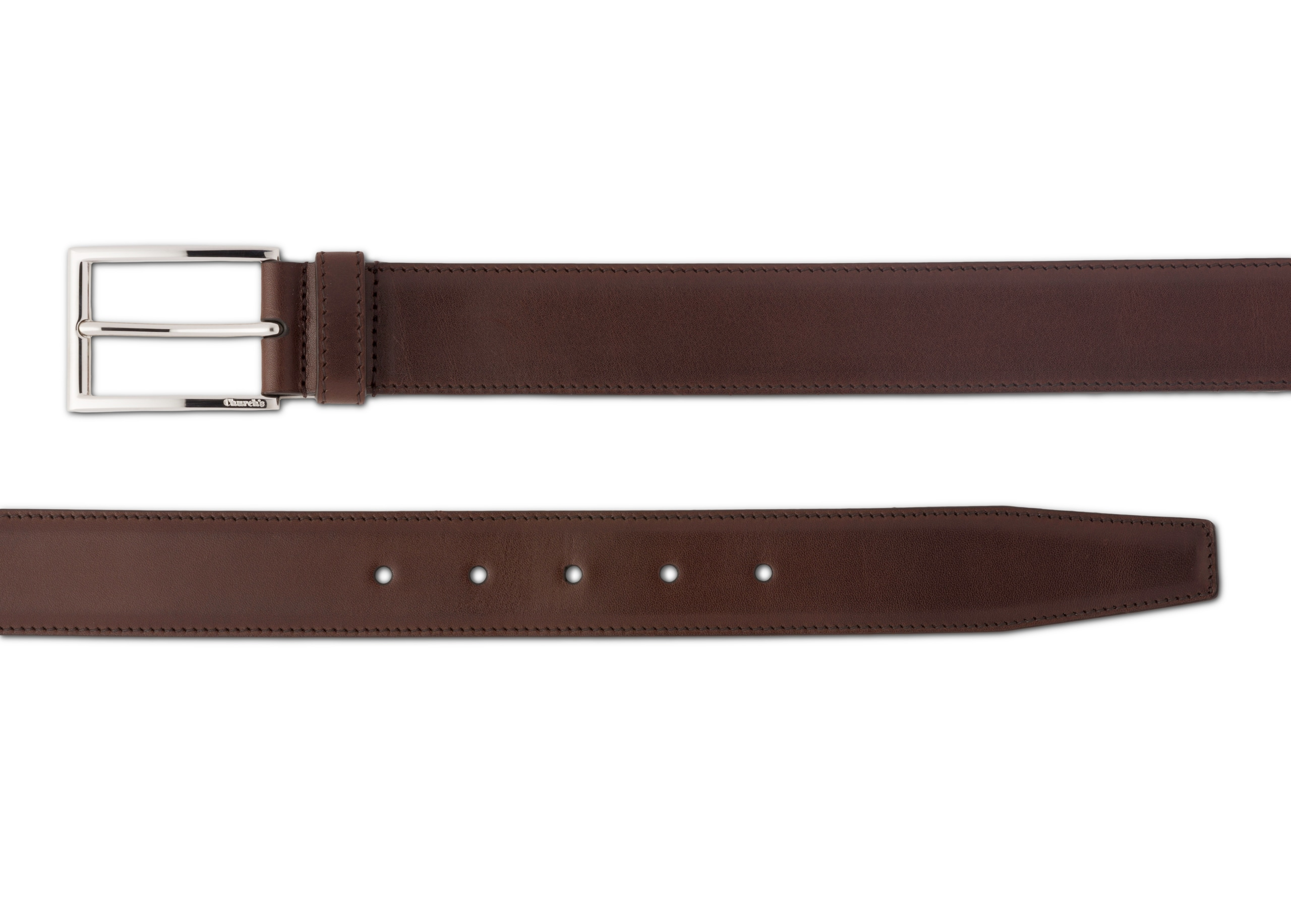 Elongated buckle belt Church's Nevada Leather Brown