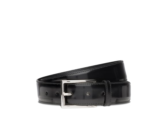 Church's Elongated buckle belt Cuir glacé Noir