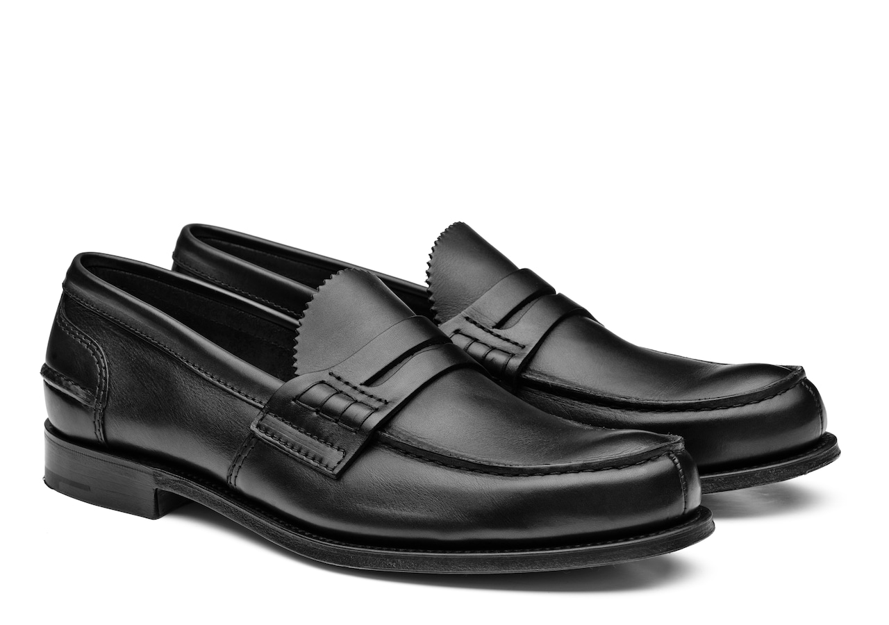 Pembrey Church's Calf Leather Loafer Black