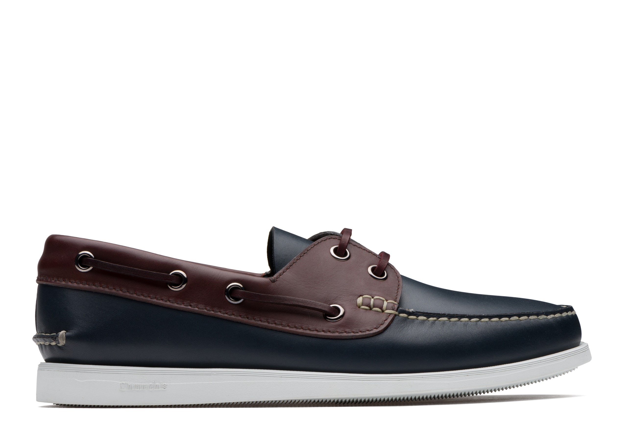 Marske Church's Antic Calf Leather Boat Shoe Blue