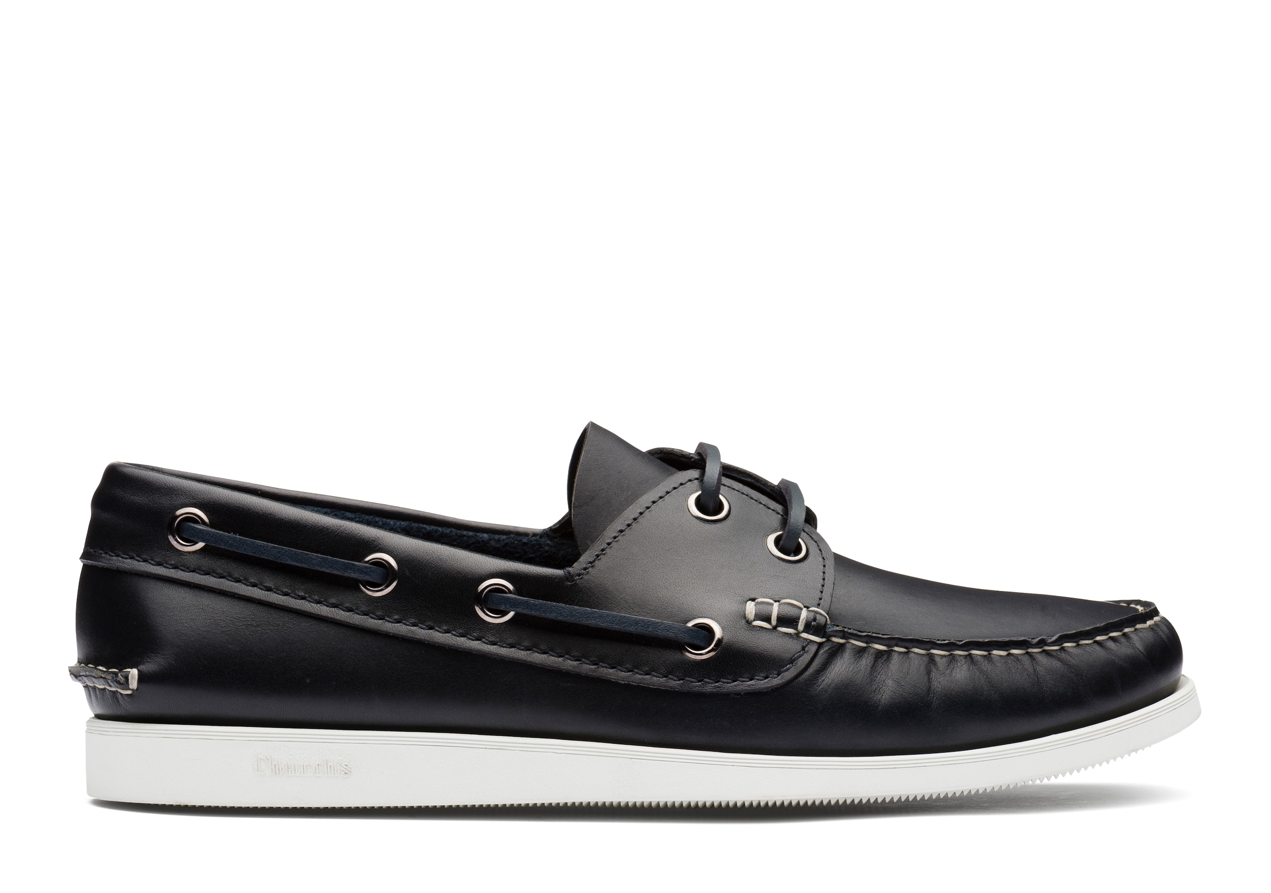 Marske Church's Calf Leather Boat Shoe Blue