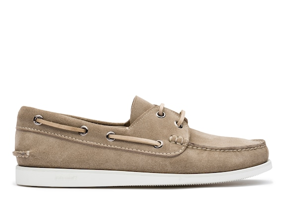 Church's  Suede Boat Shoe Stone