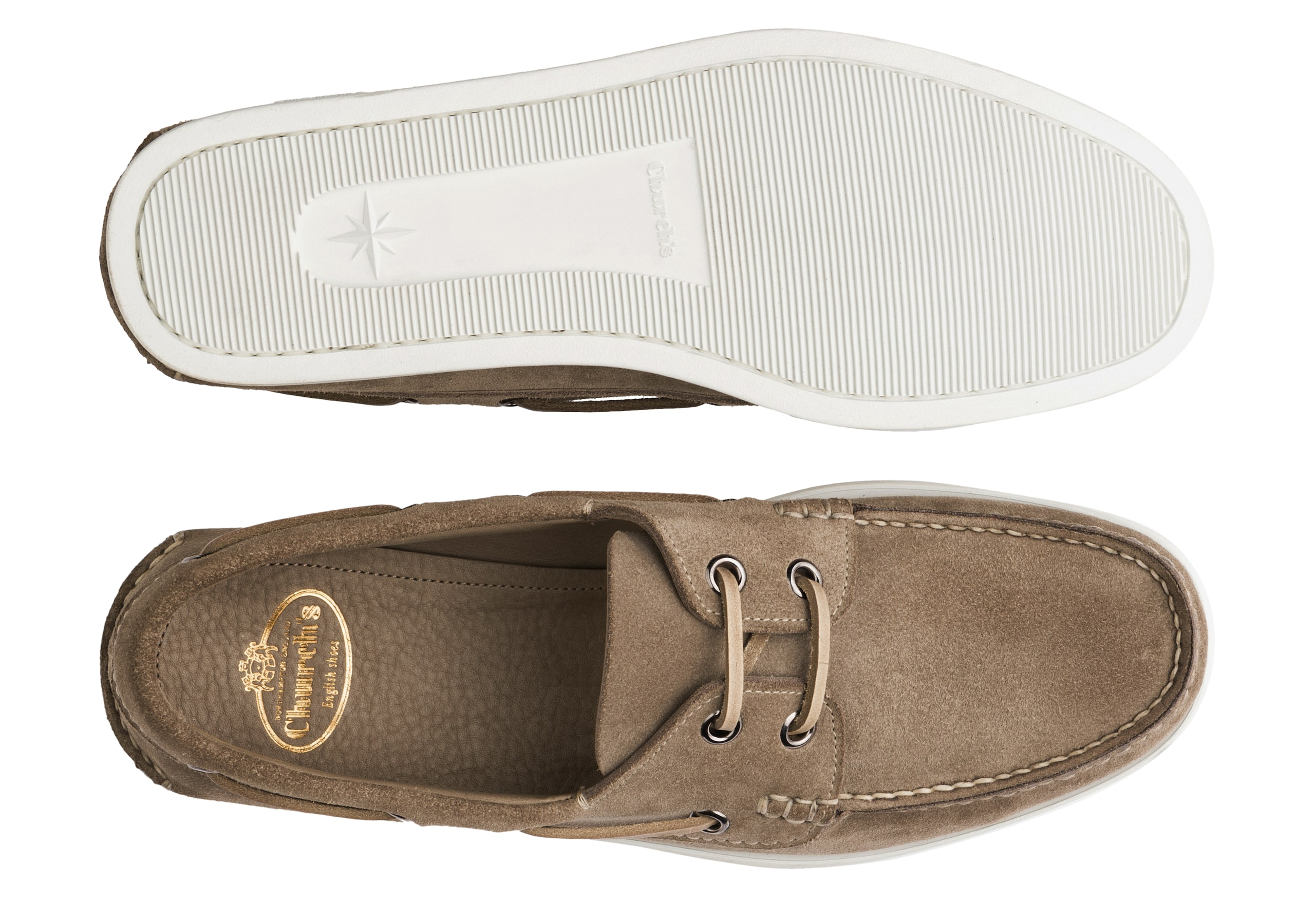 Marske Church's Suede Boat Shoe Grey