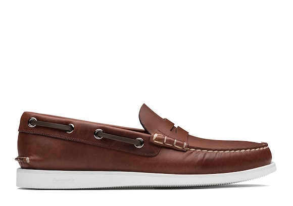 Church's true Calf Leather Boat Loafer Brown