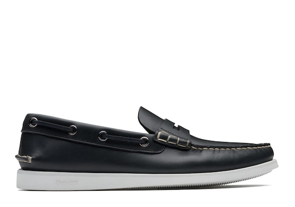 Church's true Calf Leather Boat Loafer Blue