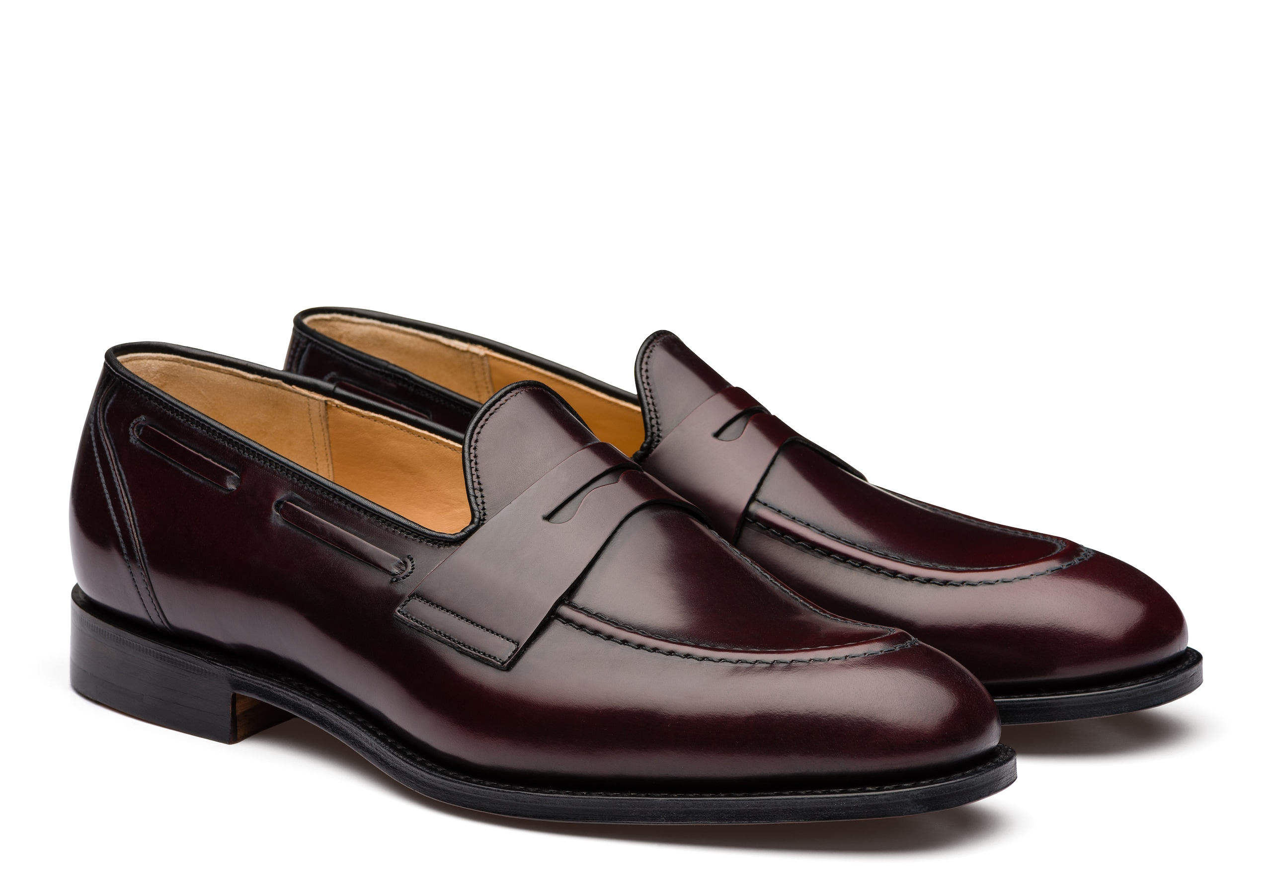 Widnes Church's Polished Binder Loafer Burgundy