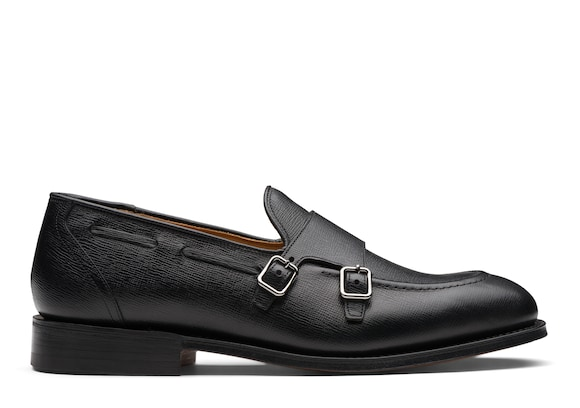 Church's true Monk Strap in Pelle St James Nero