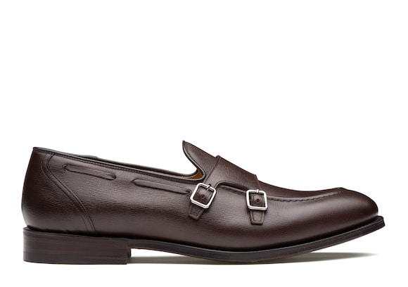 Church's true Monk Strap in Pelle St James Marrone chiaro