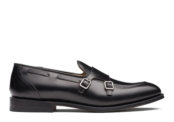 Church's Clatford Calf Leather Monk Strap Loafer Black