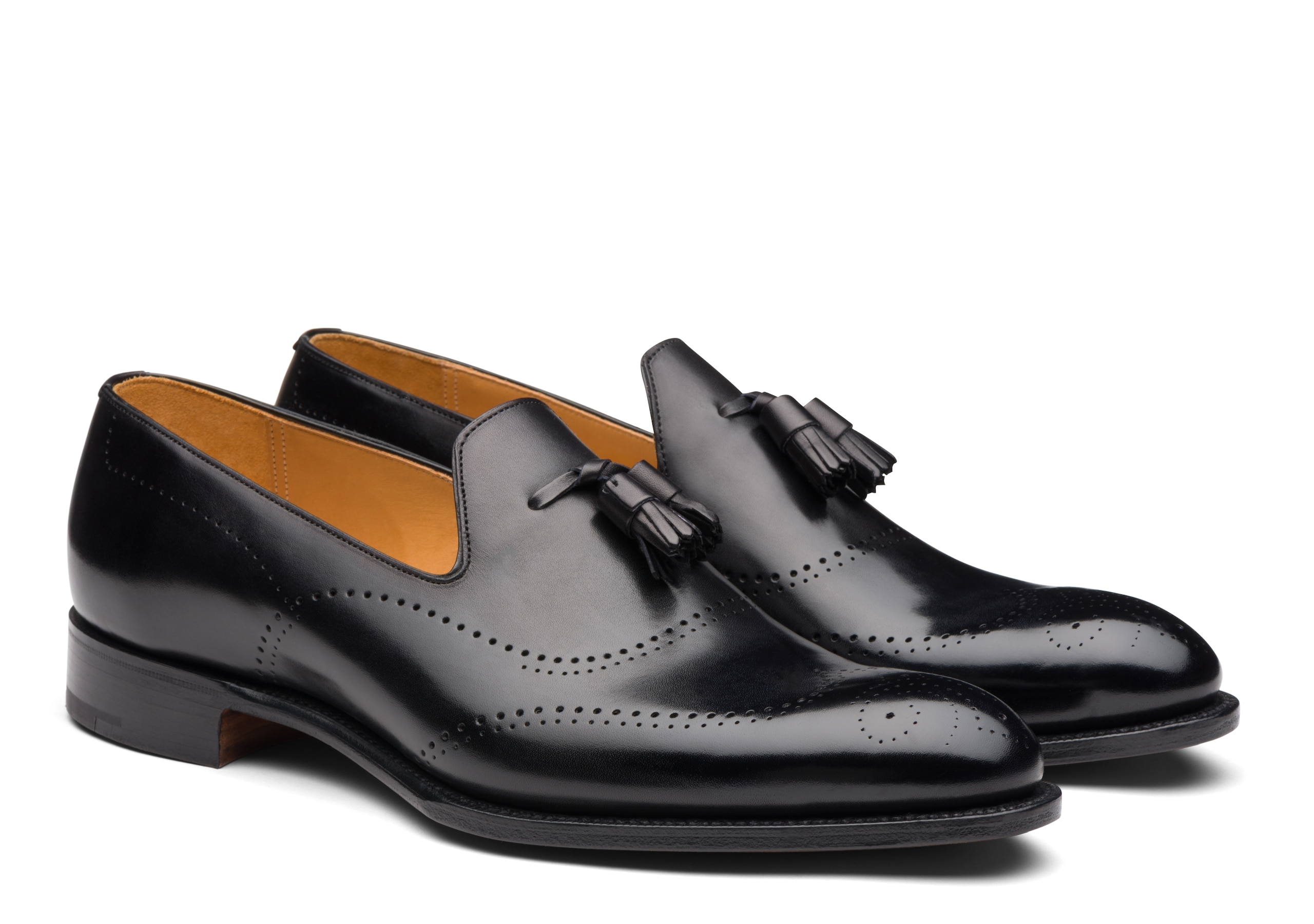 Wolfe Church's Masai Calf Leather Loafer Black