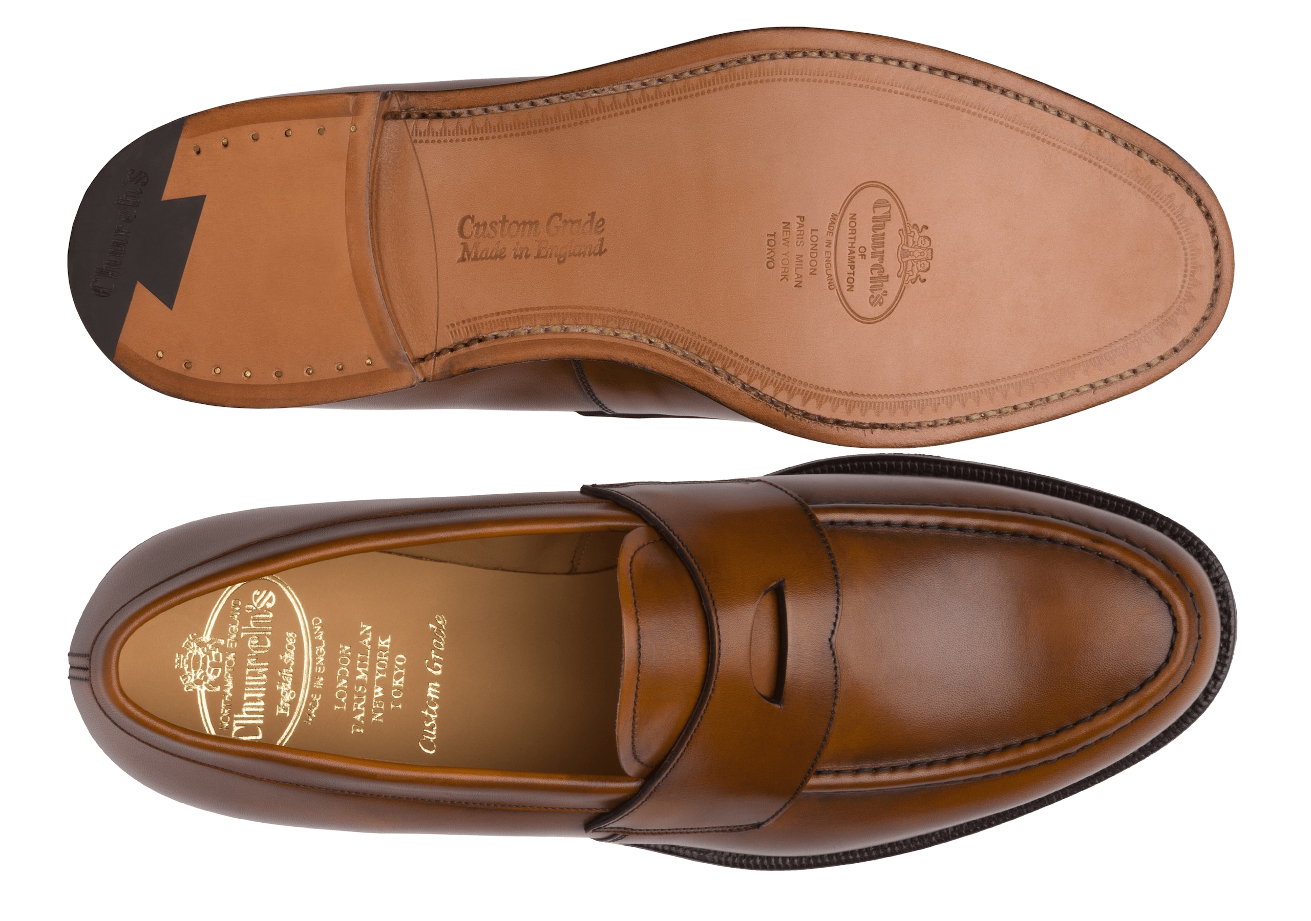 Dawley Church's Calf Leather Loafer Brown