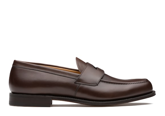 Church's true Calf Leather Loafer Ebony