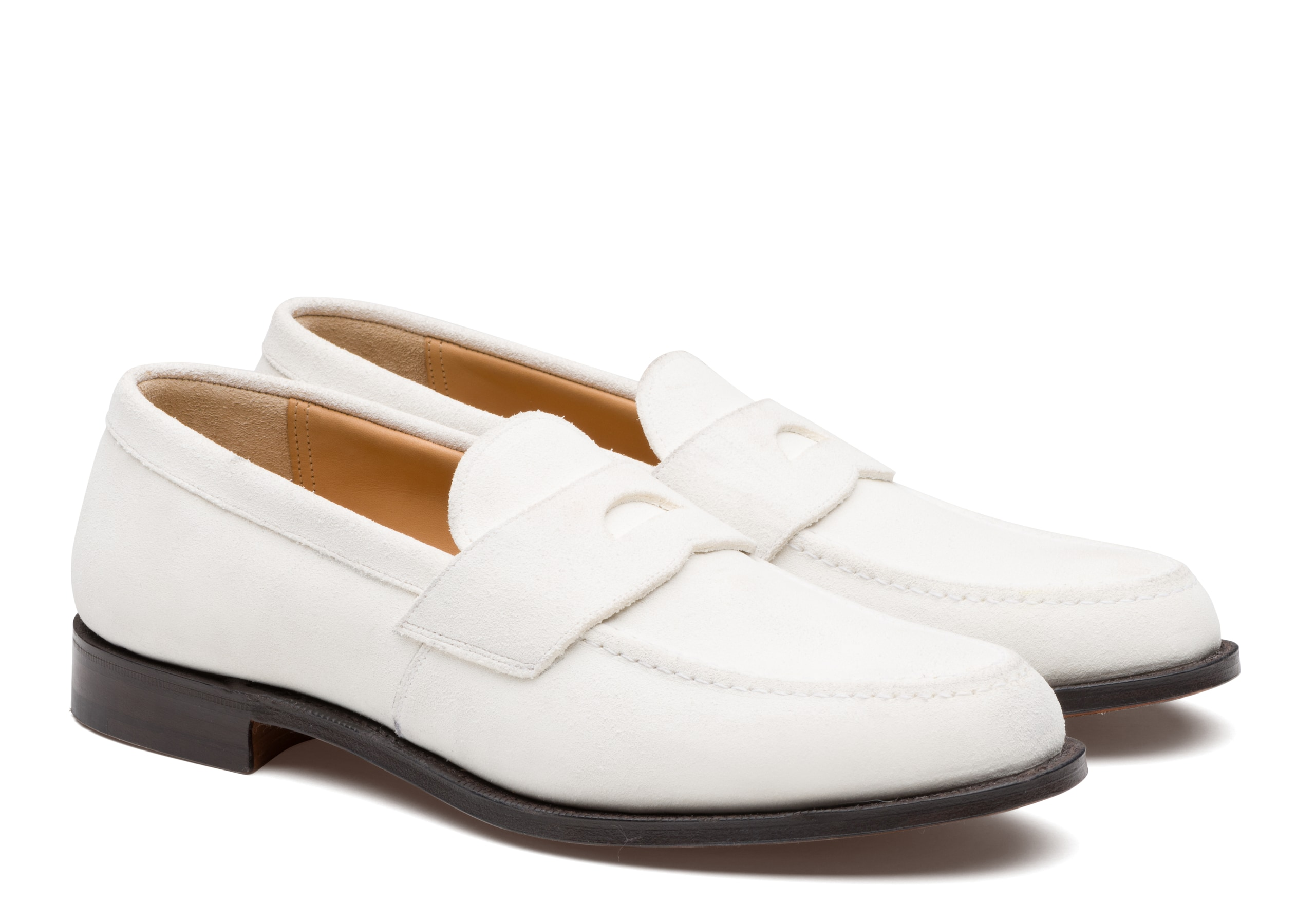 Dawley Church's Suede Loafer White