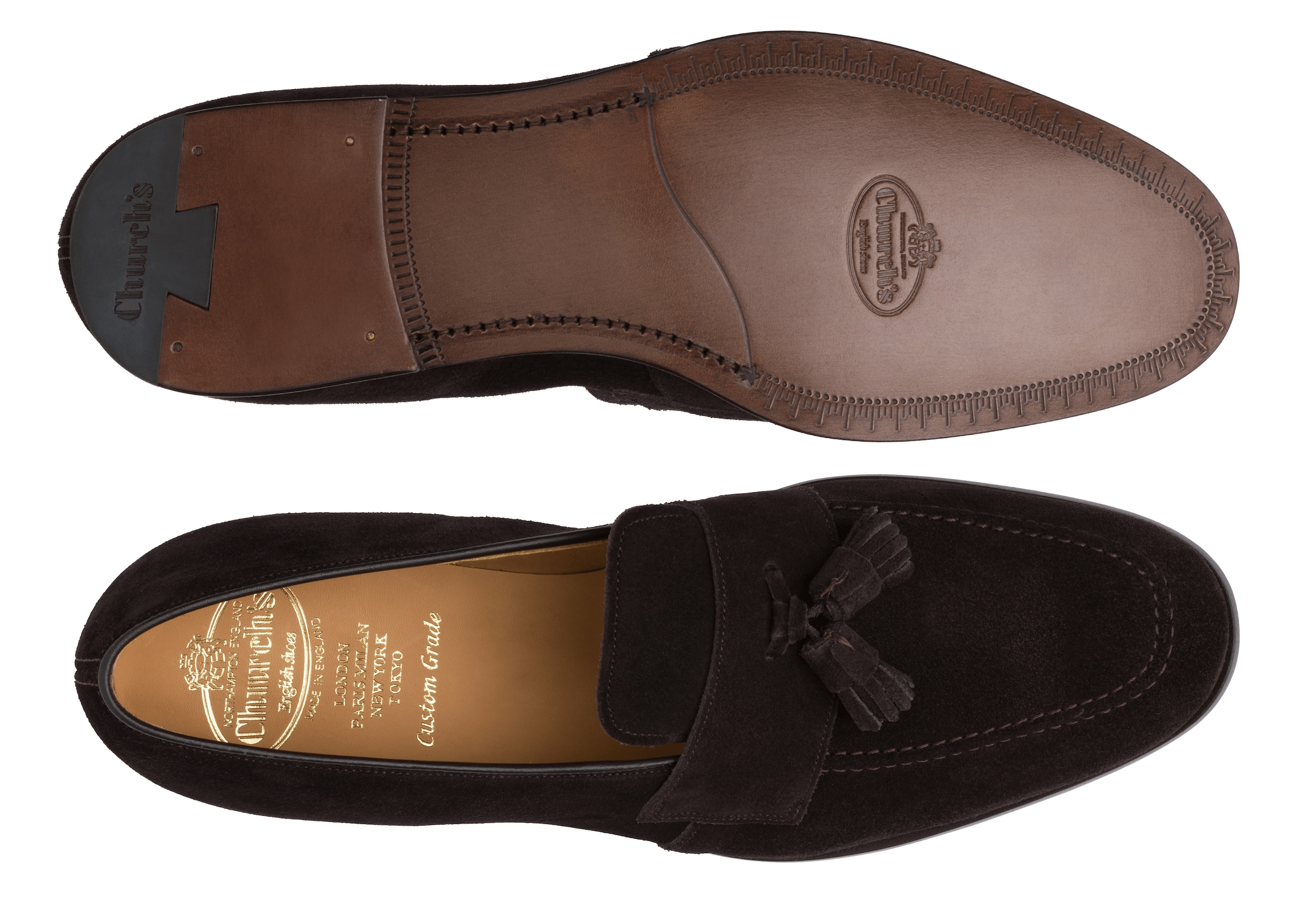 Danby Church's Suede Tassel Loafer Brown