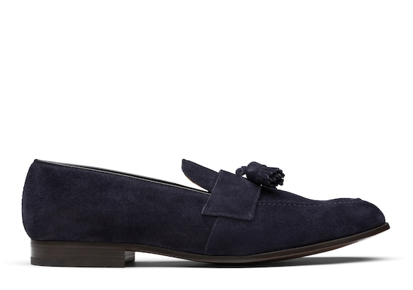 Church's true Suede Tassel Loafer Dark blue