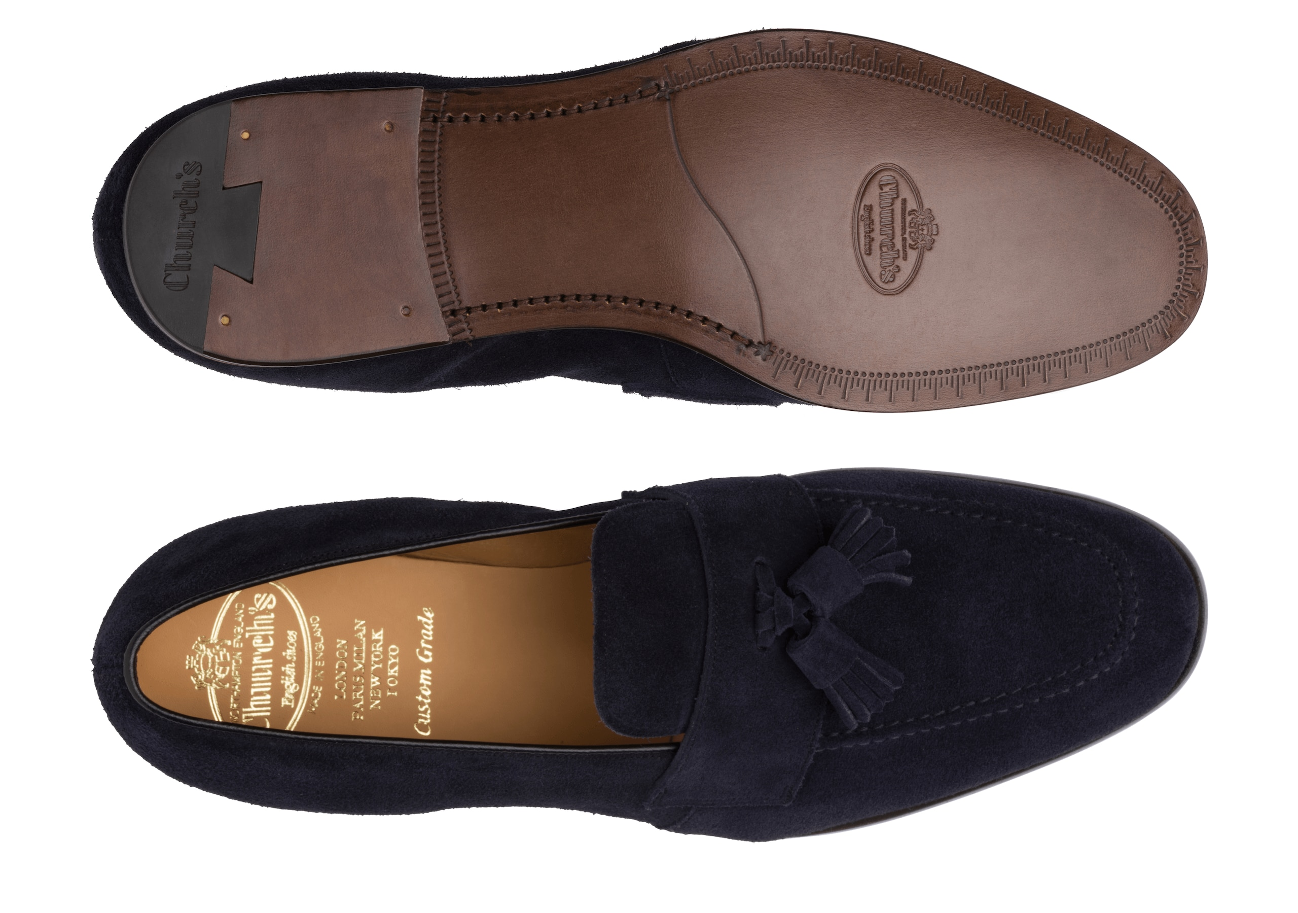 Danby Church's Suede Tassel Loafer Blue
