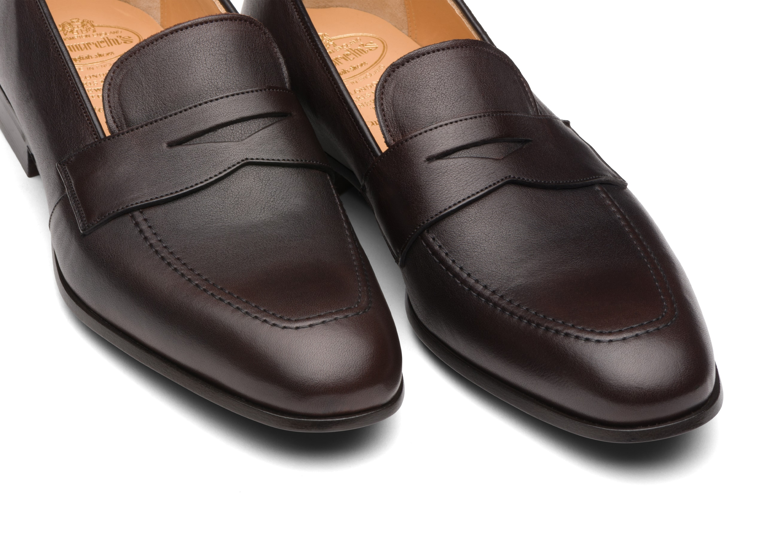 Drayford Church's Mocassino in Vitello Vintage Marrone