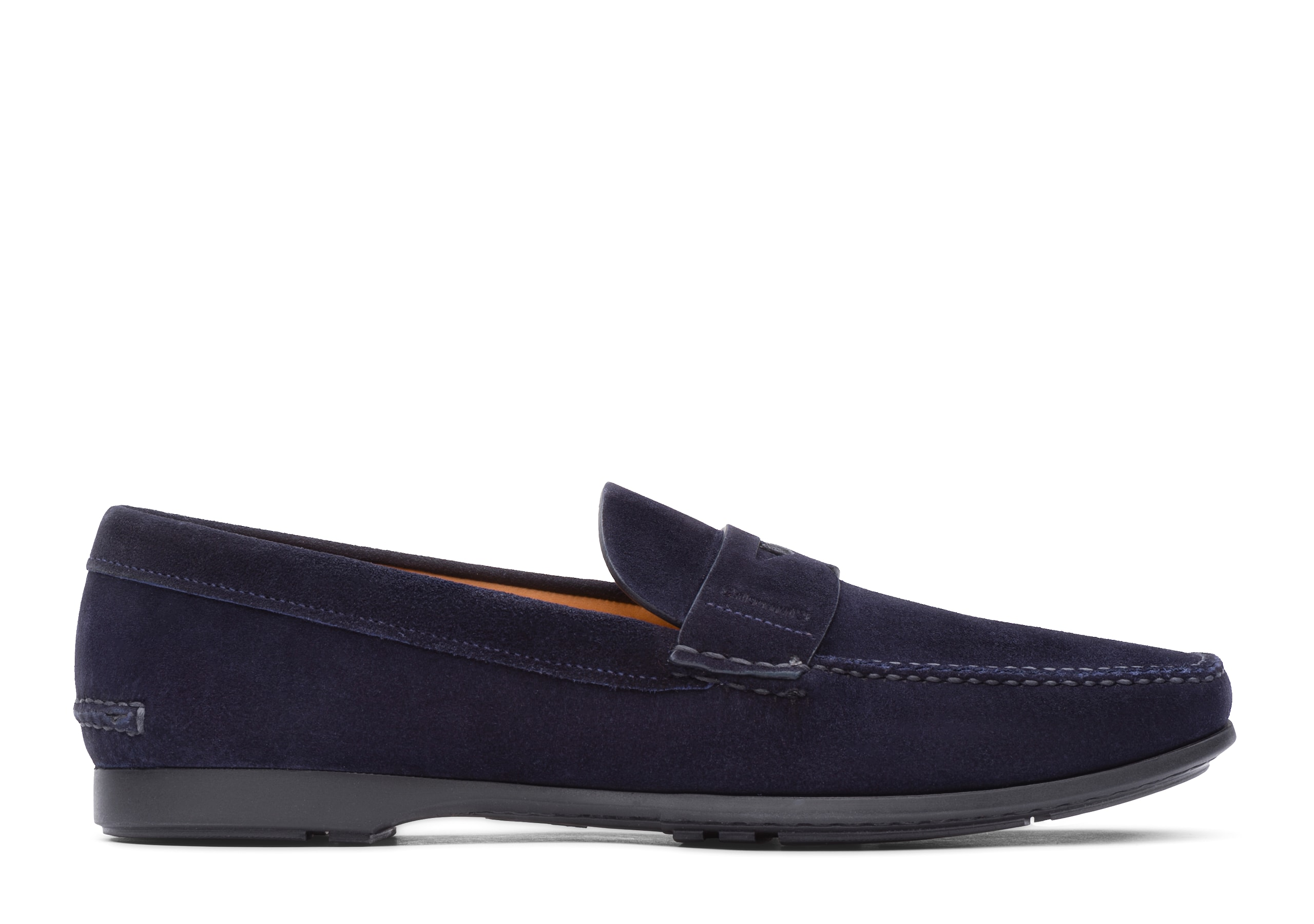 Karl Church's Mocassin en Veau Velours Bleu