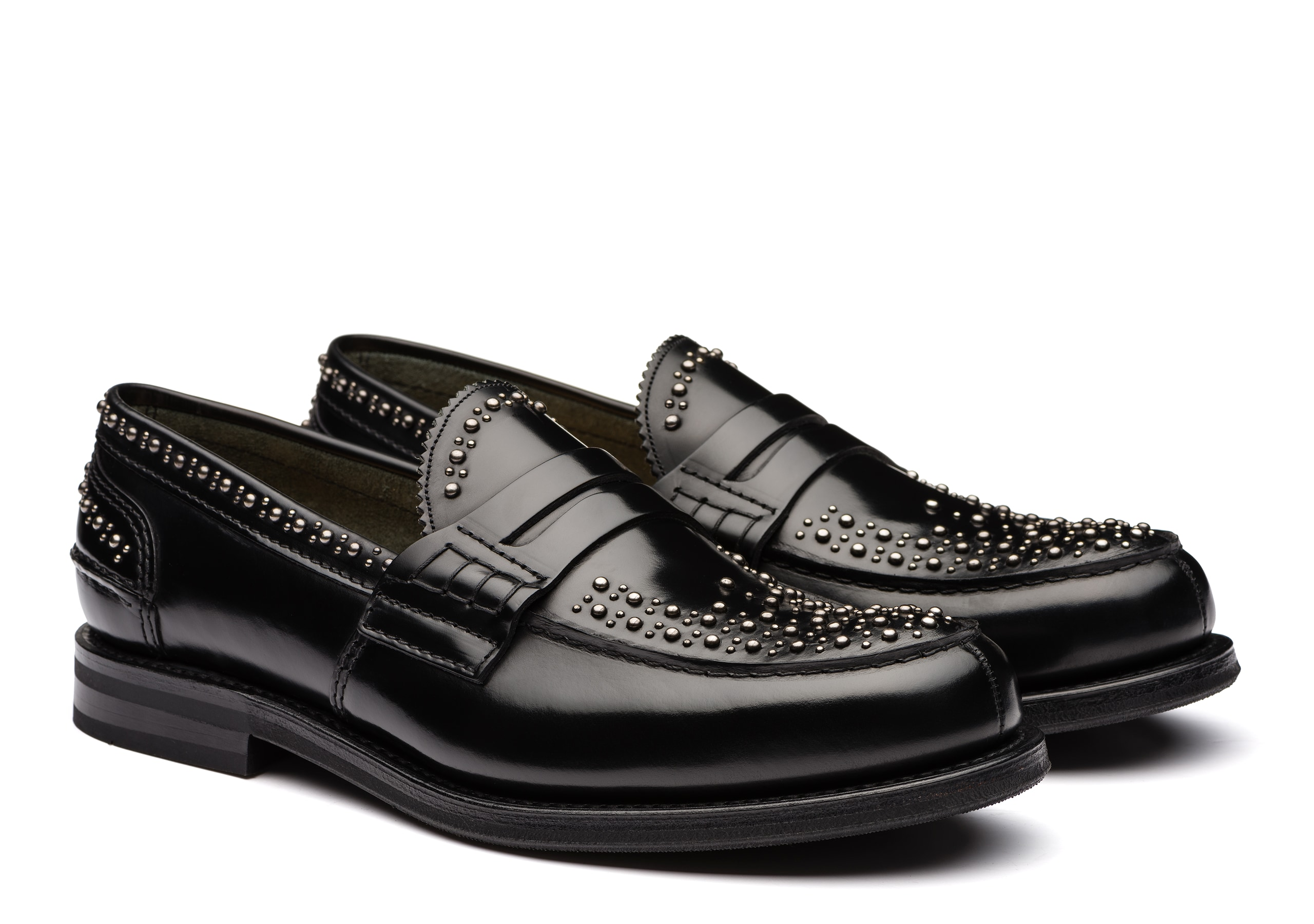 Pembrey met Church's Polished Binder Loafer  Stud Black