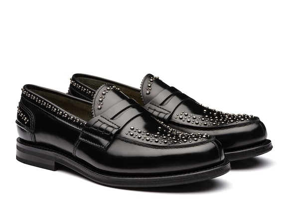 Church's Pembrey   met Polished Binder Loafer  Stud Black