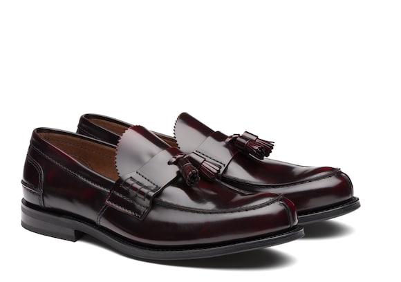 Church's true Mocassino Bookbinder Fumé Burgundy