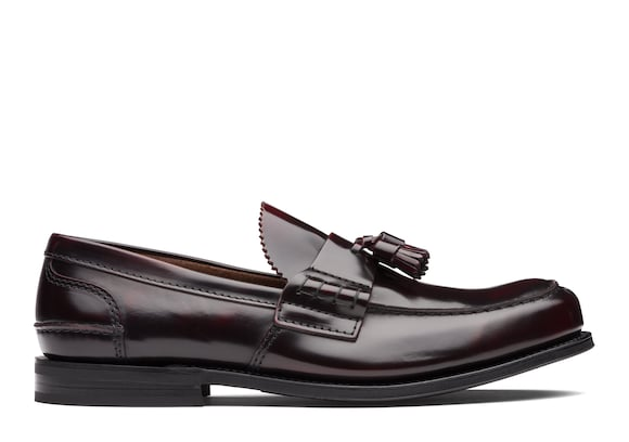 Church's true Bookbinder Fumè Tassel Loafer Burgundy