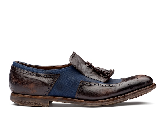 Church's true Vintage Glacè and Linen Loafer