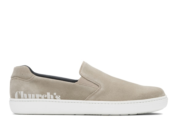 Church's Fawley Suede Slip-on Sneaker Stone