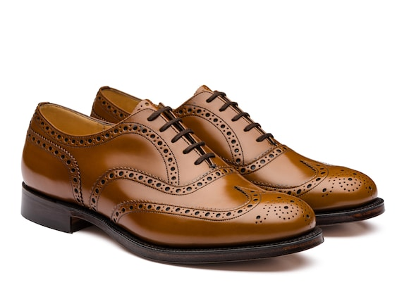 Church's  Oxford Brogue in Pelle di Vitello Spazzolato Sandalwood