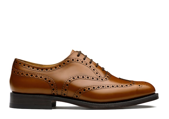 Church's Burwood Oxford Brogue in Pelle di Vitello Spazzolato Sandalwood
