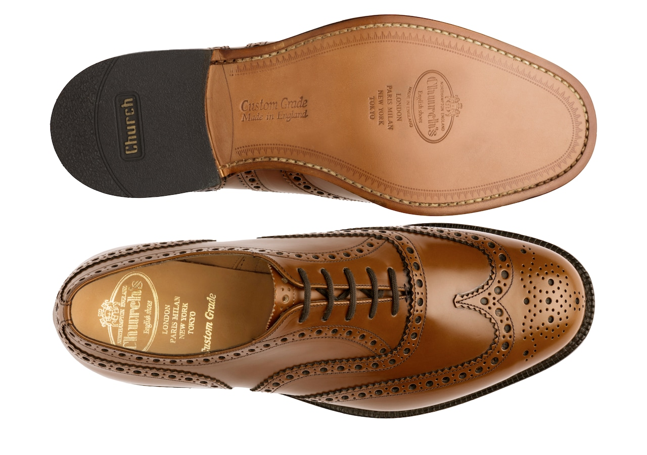 Burwood Church's Polished Binder Oxford Brogue Brown