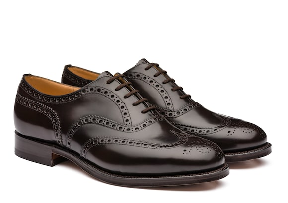 Church's true Oxford Brogue in Pelle di Vitello Spazzolato Ebony chiaro