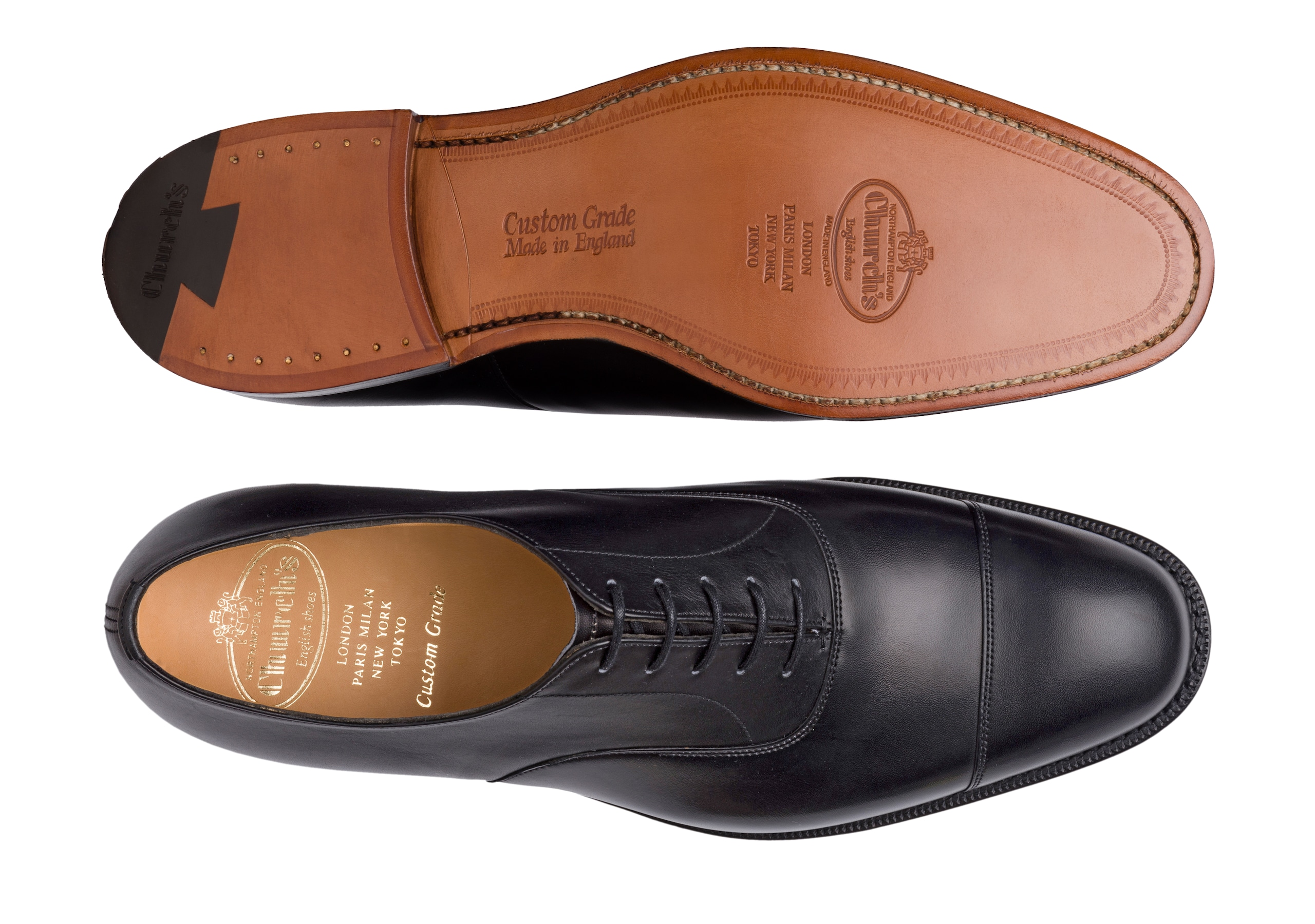Consul Church's Calf Leather Oxford Black