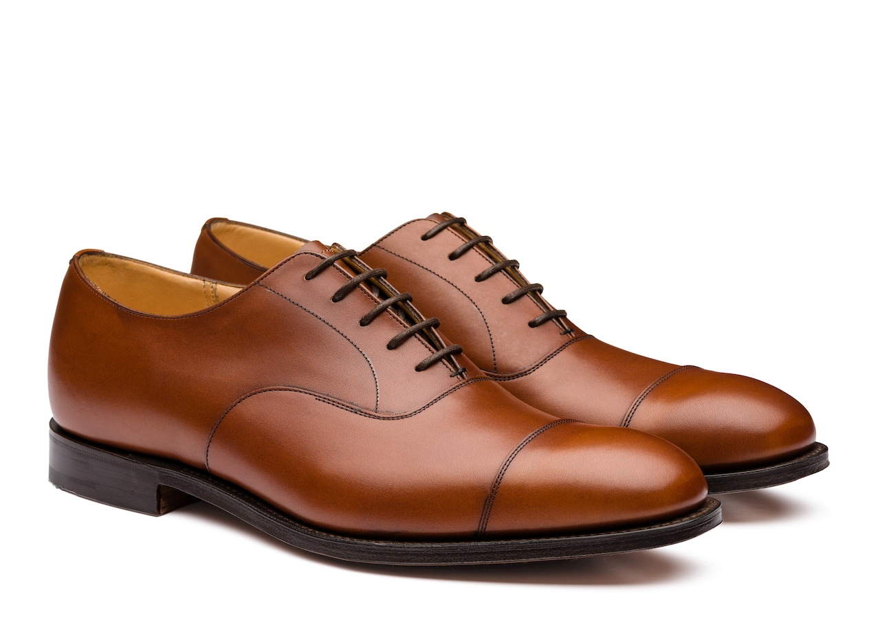 Consul Church's Oxford en Cuir Nevada Marron