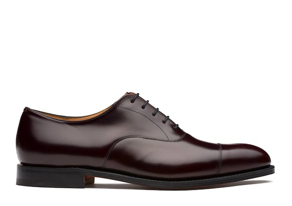 Church's Consul 173 Oxford in Pelle di Vitello Spazzolato Burgundy