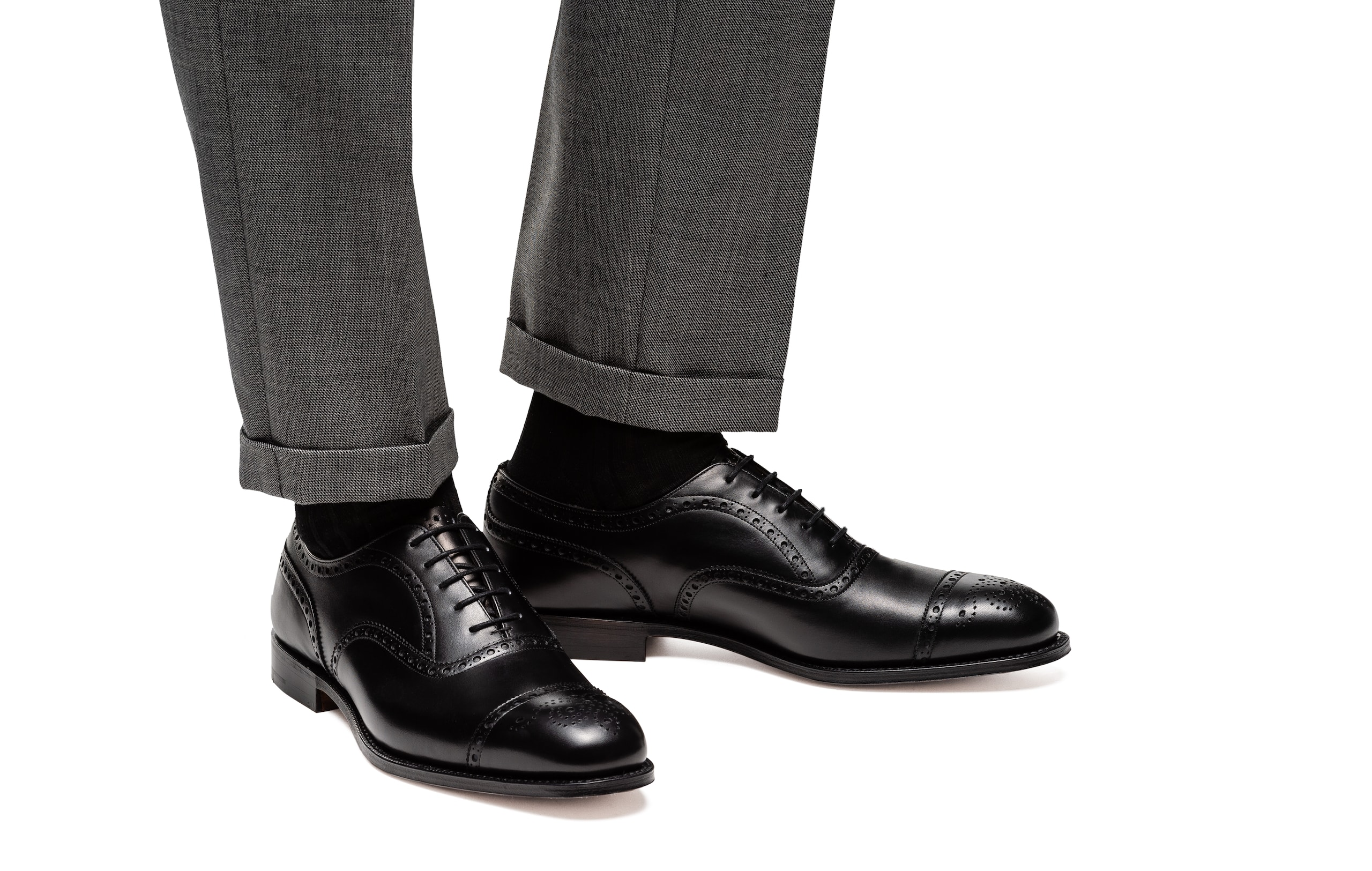 Diplomat Church's Oxford Brogue in Pelle di Vitello Nero