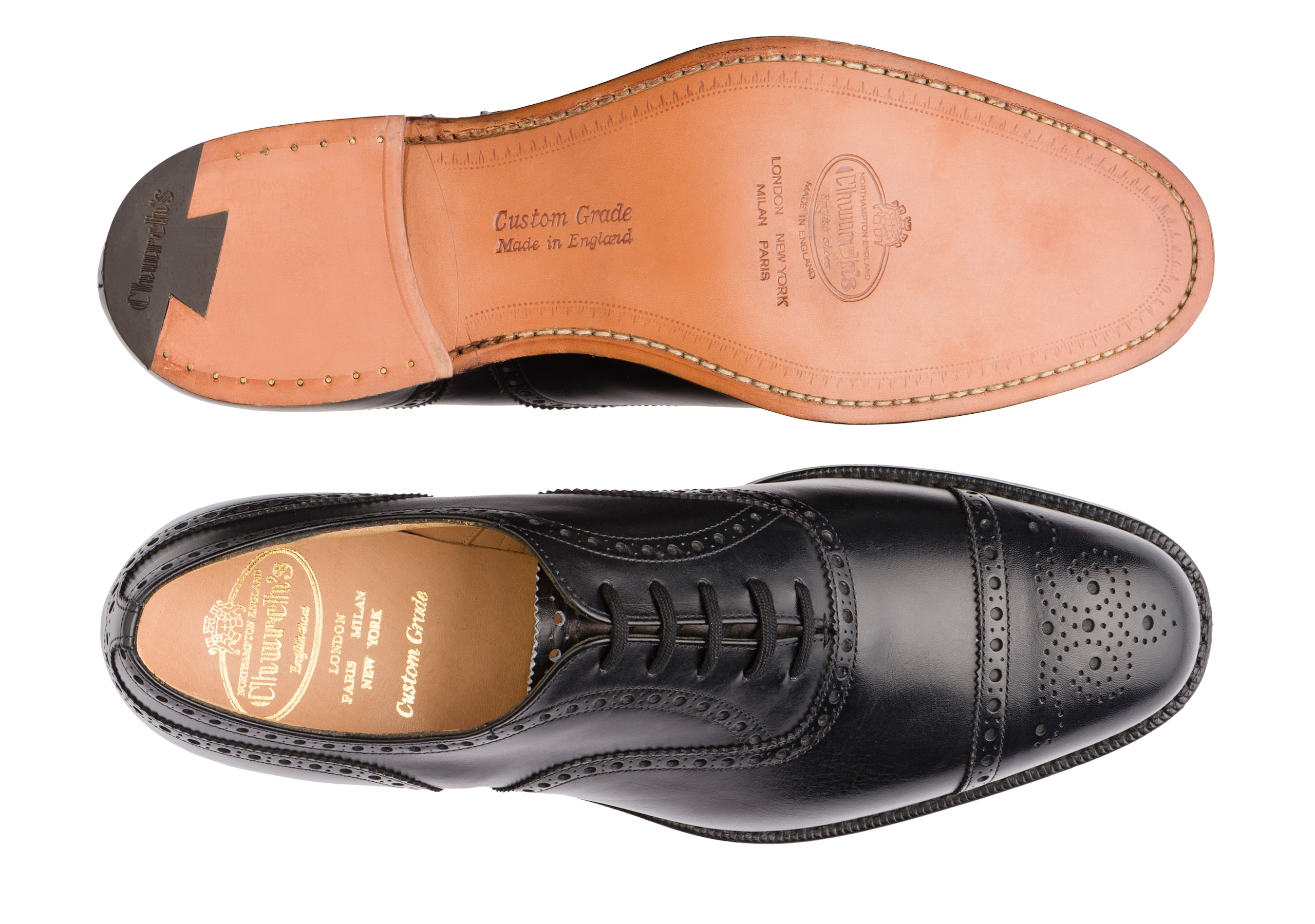 Diplomat Church's Calf Leather Oxford Brogue Black