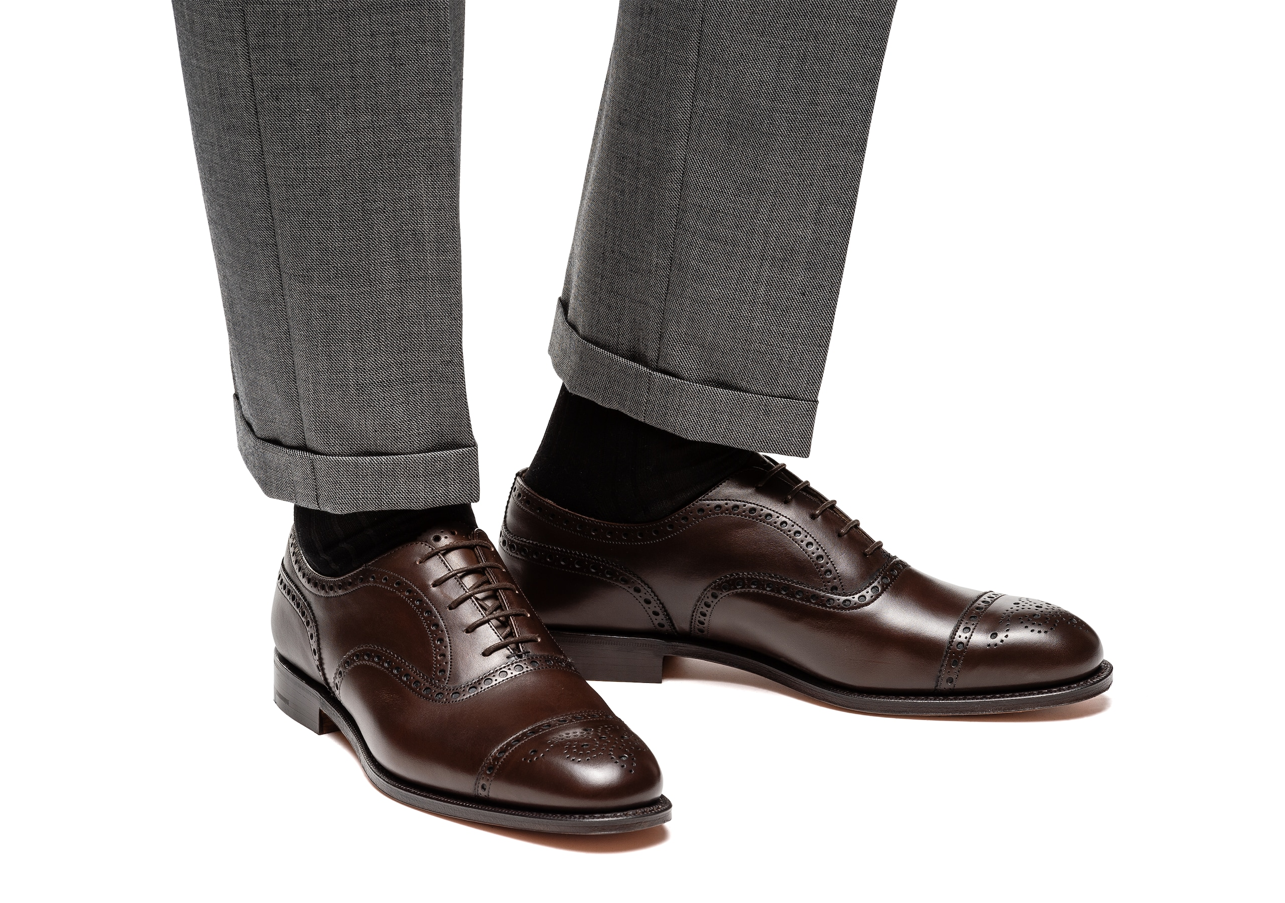 Diplomat 173 Church's Nevada Leather Oxford Brogue Brown