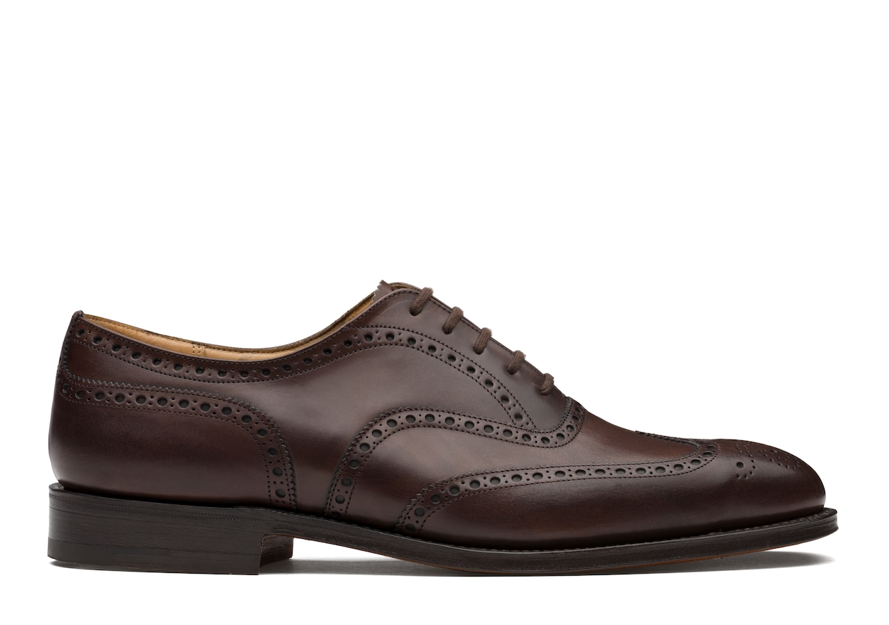 Chetwynd Church's Oxford Brogue in Pelle Nevada Marrone